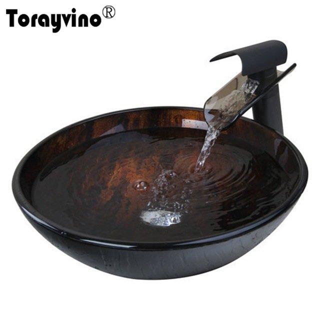 Раковина с краном для стильной ванной комнатыTorayvino