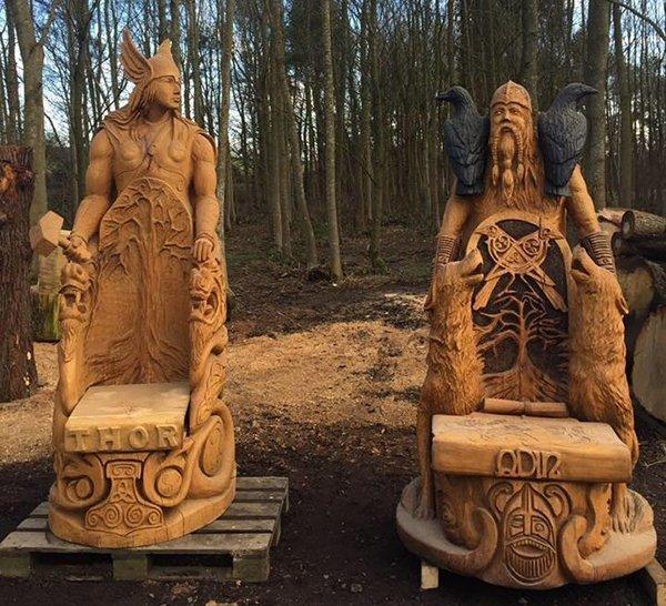 Троны богов. Садово-парковые скульптуры. Продукция Графской гильдии мастеров