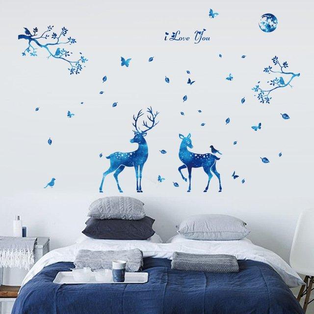 Наклейки в скандинавском стиле для спальниFundecor