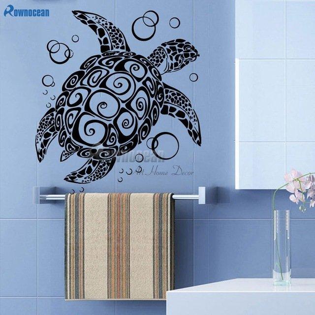 Наклейка Морская черепаха для ванной комнаты