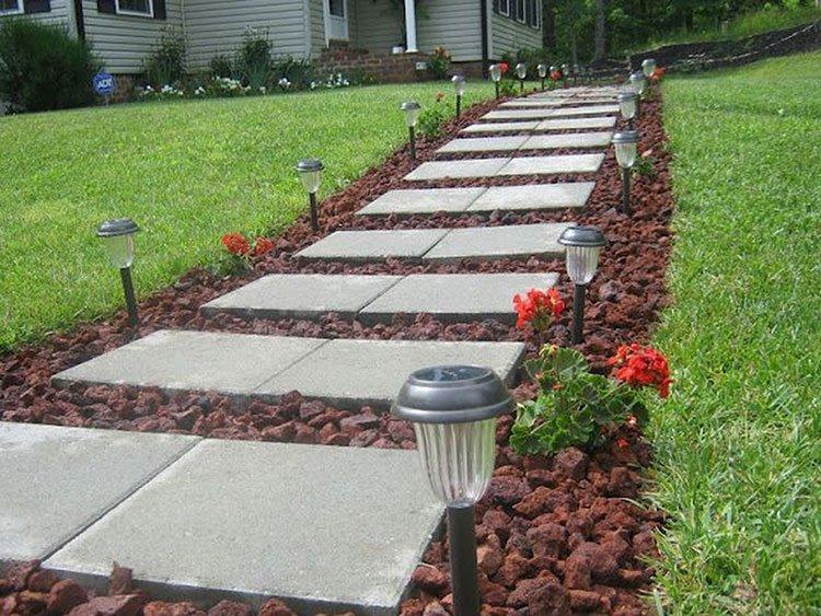 Идея для дорожек на даче из бетона фото 4