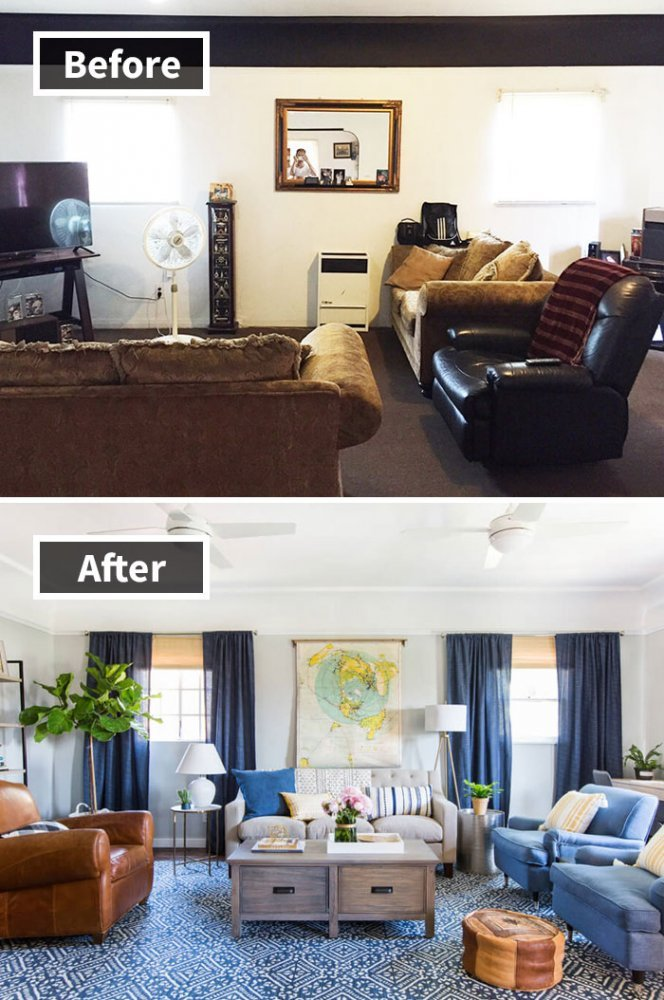 Ремонт до и после фото 19