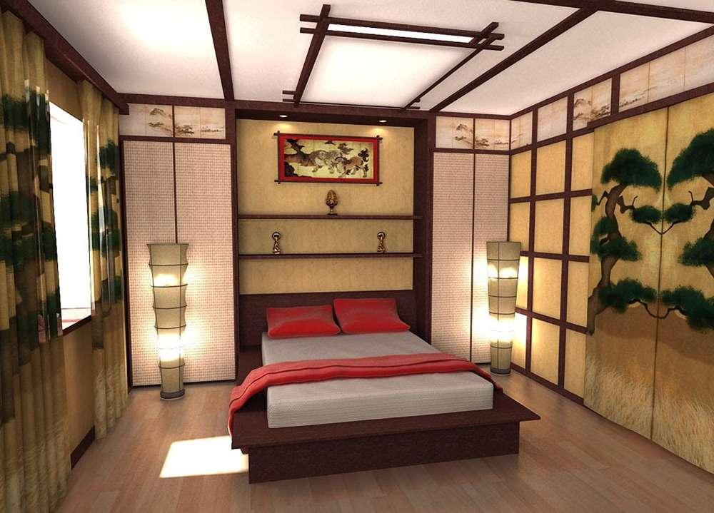 Настоящий восточный стиль в интерьере спальни