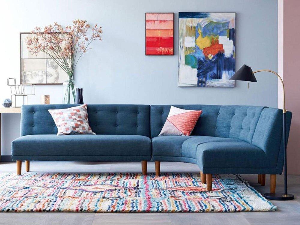 Сочетания голубого цвета в интерьере фото 48
