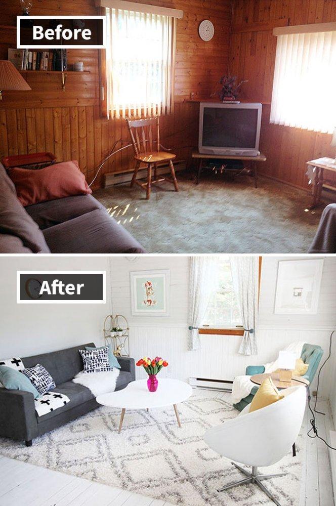 Ремонт до и после фото 36