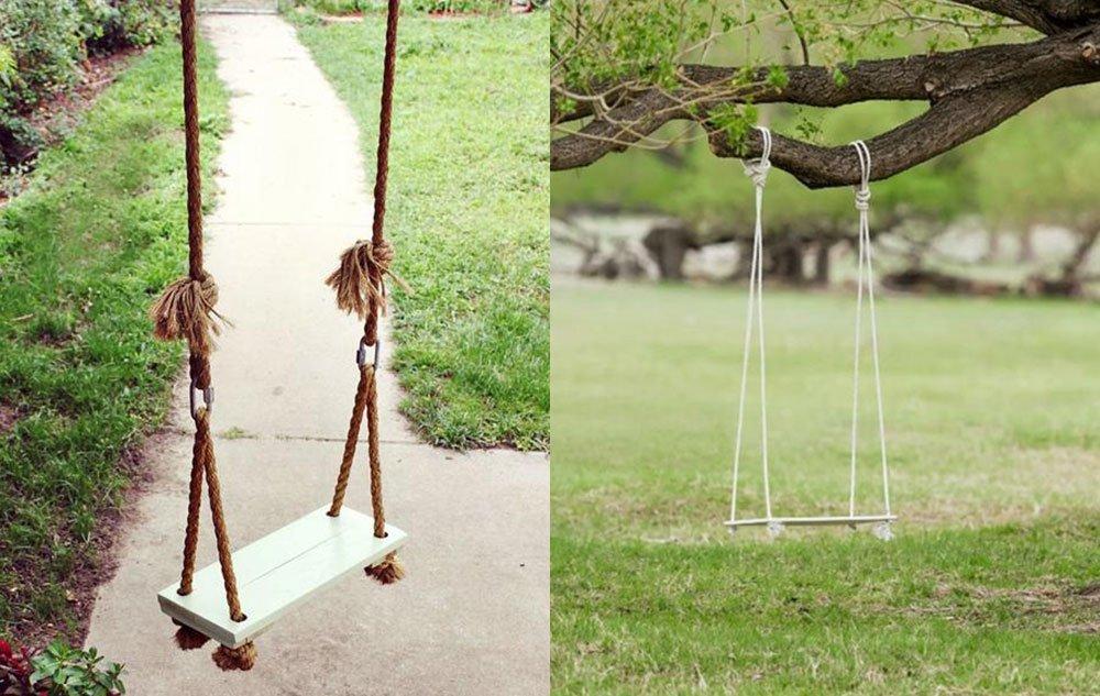Качели для дачи на веревках