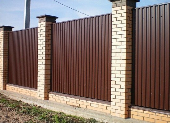 Забор из профнастила, забор из профнастила своими руками