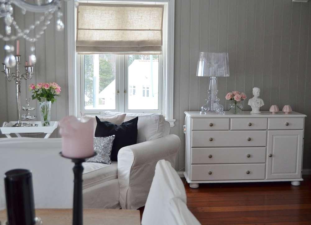 Светло-серые стены в интерьере в стиле прованс