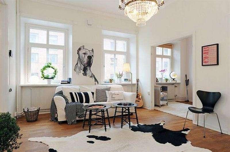 Черно-белая основа скандинавского стиля в интерьере