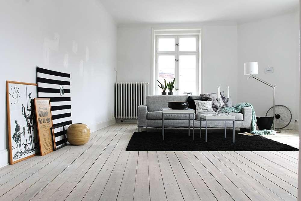 Гостиная в серых тонах в стиле минимализм