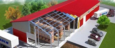 Конструкция быстровозводимых зданий из металлокаркаса и сэндвич-панелей