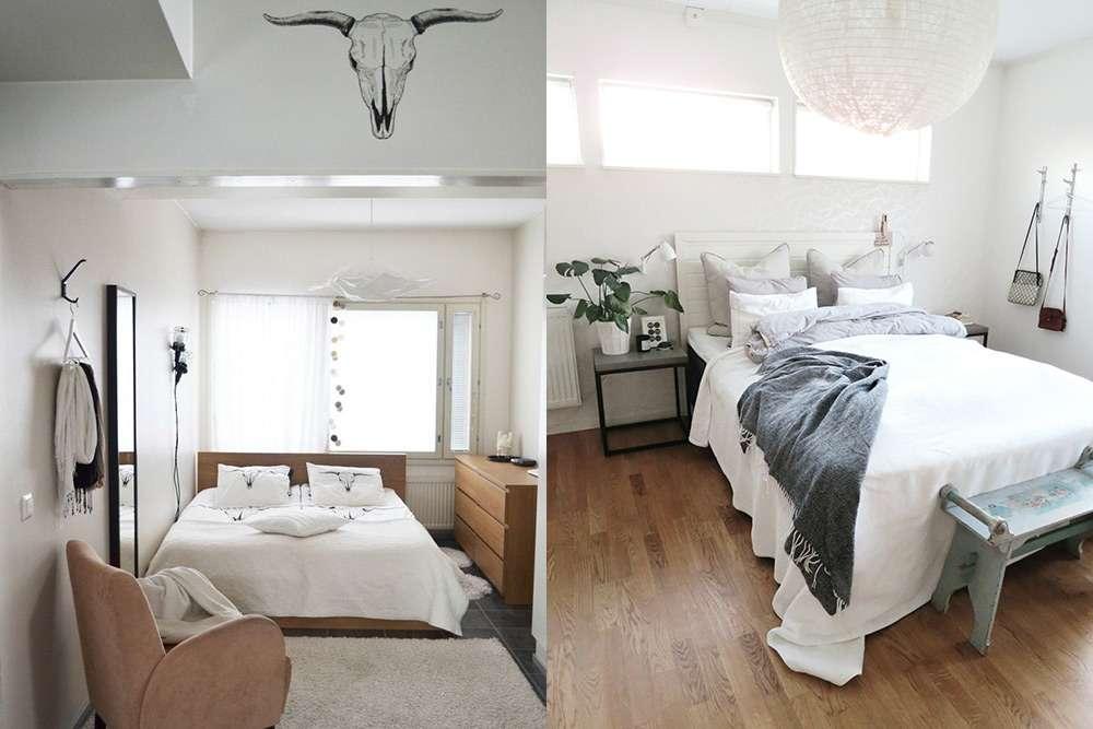 Еще один пример стиля минимализм в маленьких по полощади спальнях