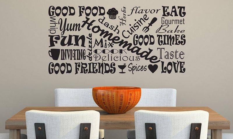 декор стен на кухне фото 9