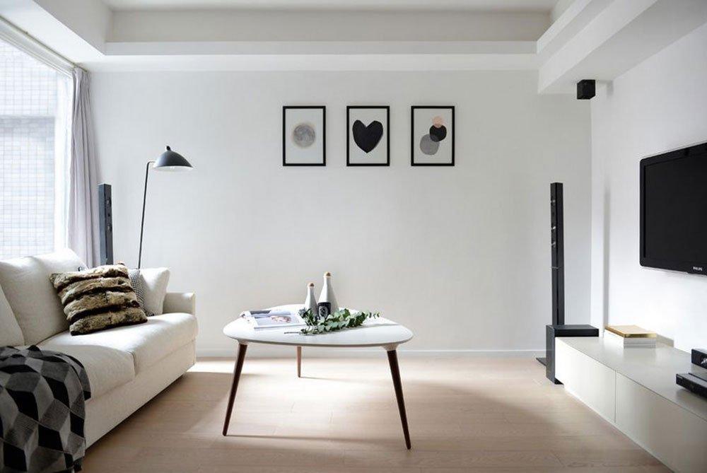 Современная гостиная в стиле минимализм фото 1