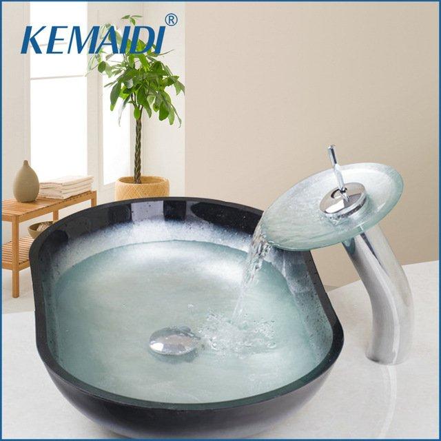 Современная раковина с водопадомKemaidi