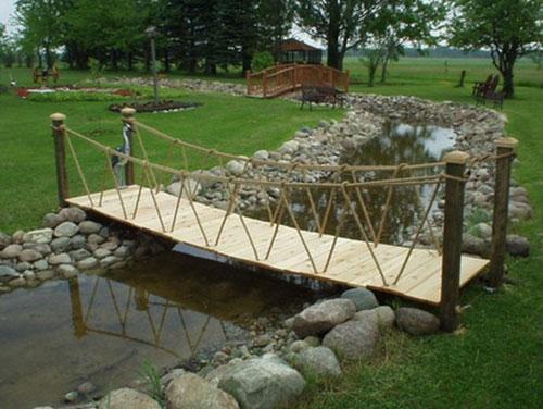 Как сделать на даче мостик