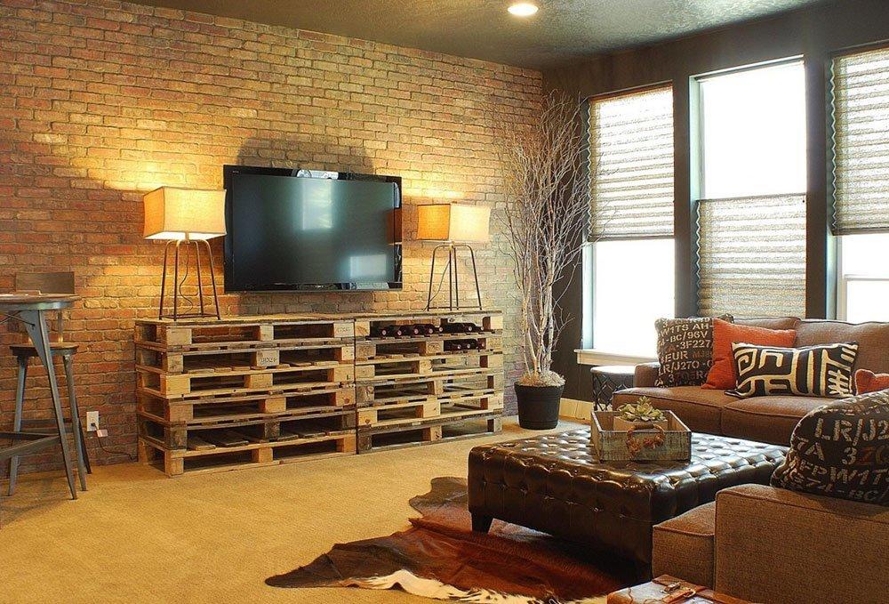 Современная гостиная в стиле лофт фото 3