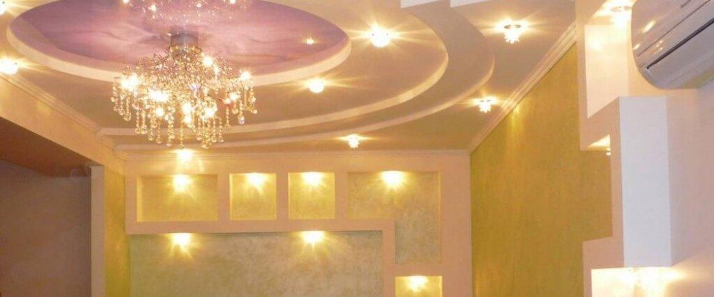 Установка подвесных светильников