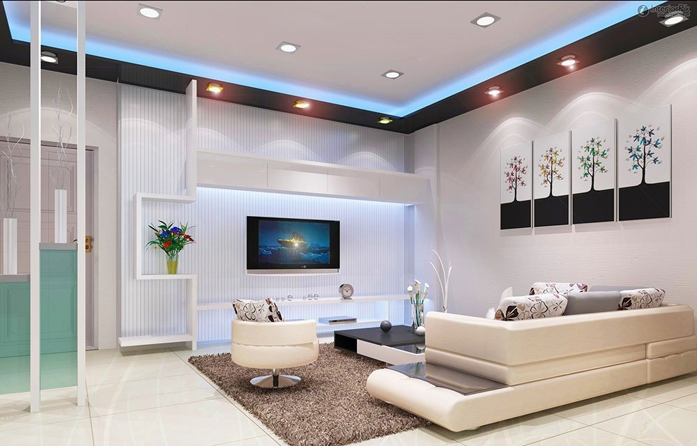 Современная гостиная в стиле хай-тек фото 3