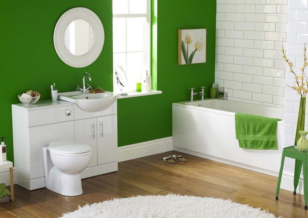 Сочетания зеленого цвета в интерьере ванной фото 2