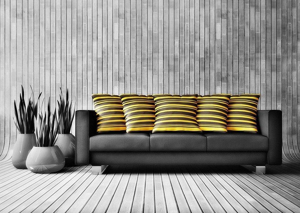 Декоративные подушки в интерьере должны выделяться
