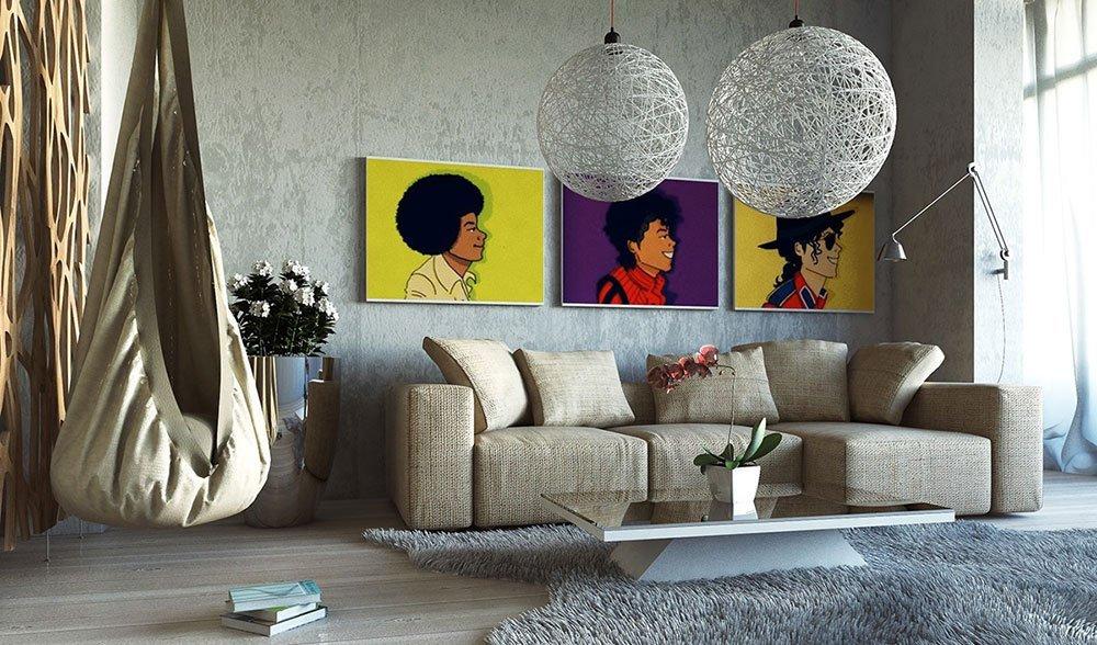 Современная гостиная в стиле поп-арт фото 3