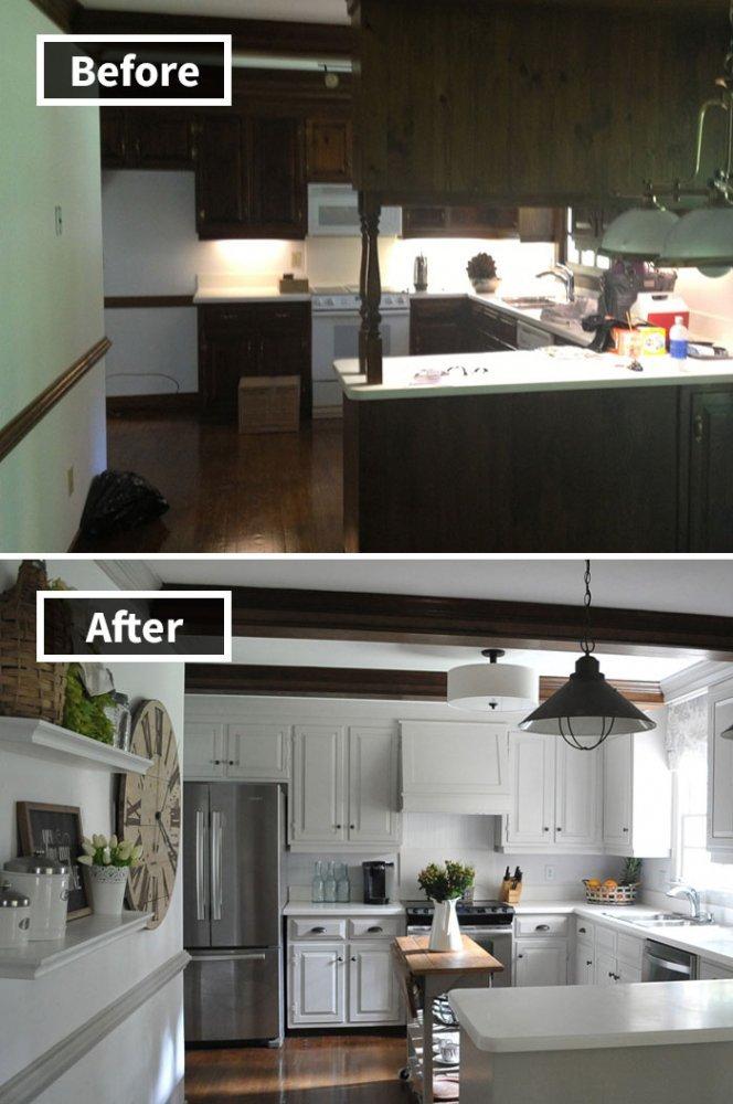 Ремонт до и после фото 30