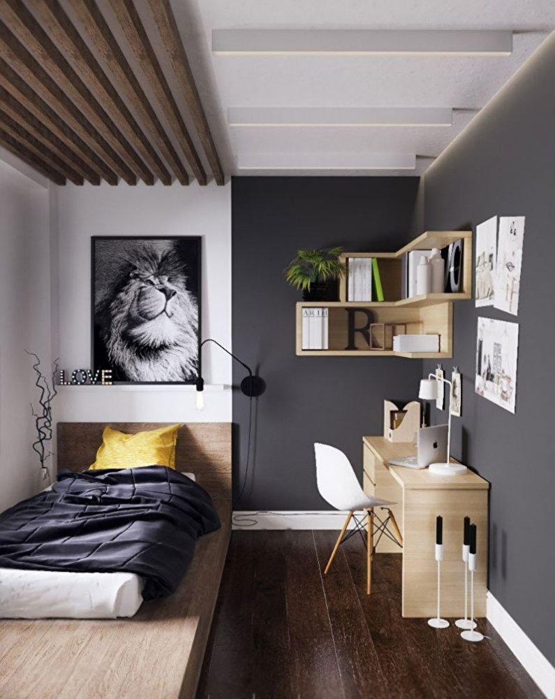Дизайн узкой комнаты фото 3