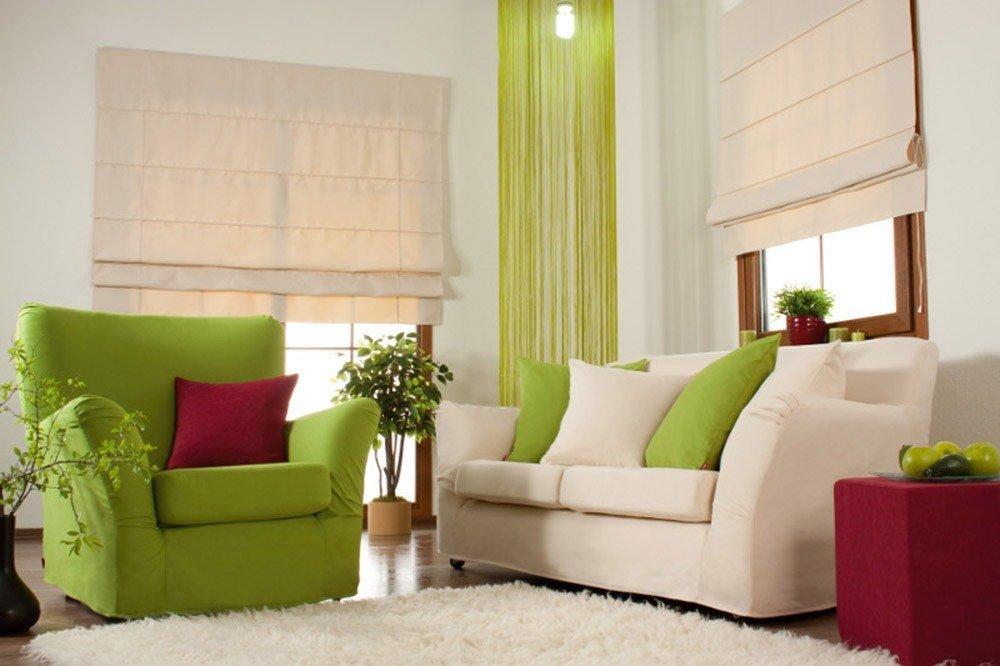 Сочетания зеленого и бежевого цвета в интерьере фото 1