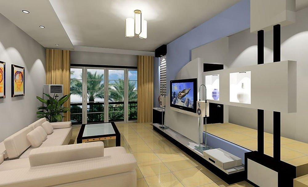 Современная гостиная в стиле хай-тек фото 1