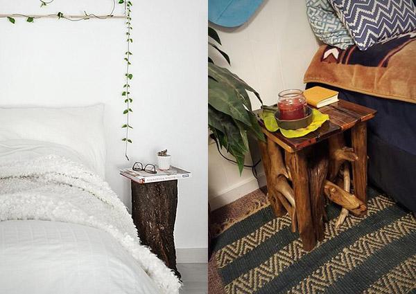 Оригинальные и необычные прикроватные тумбочки