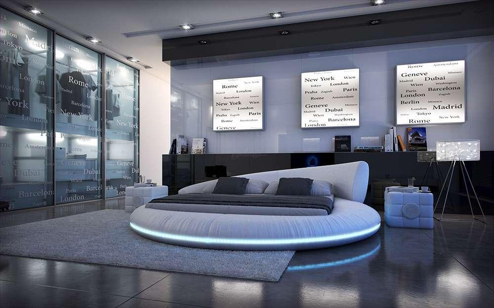 Стиль хай тек - один из популярных современных стилей оформления интерьера спальни