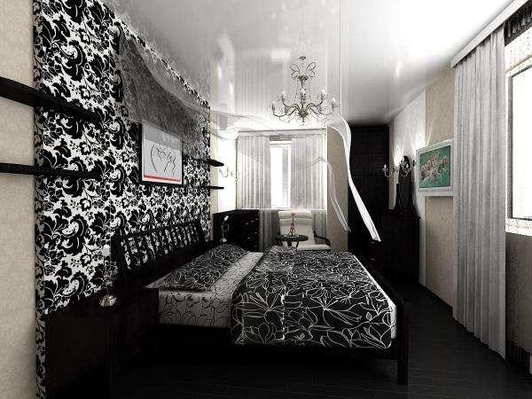 Дизайн узкой спальни: оригинальные фотоидеи
