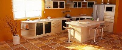 Пол на кухне. Какой пол лучше сделать на кухне?