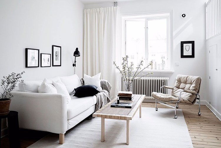Белый цвет в интерьере квартиры фото 2