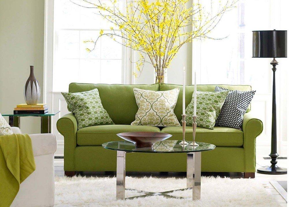 Сочетания зеленого цвета в интерьере в эко стиле