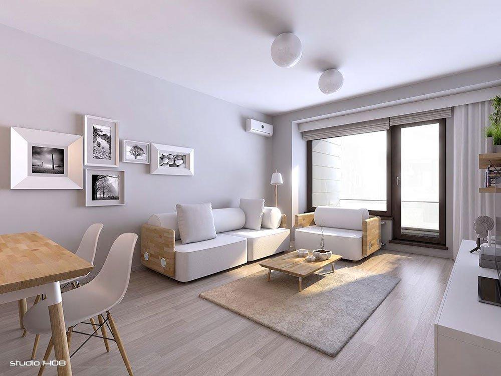 Современная гостиная в стиле модерн фото 3