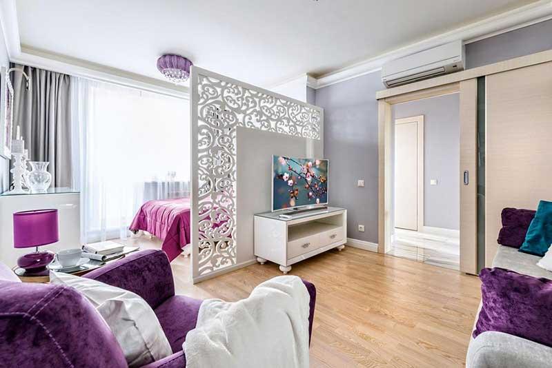 Ширмы для зонирования пространства комнаты