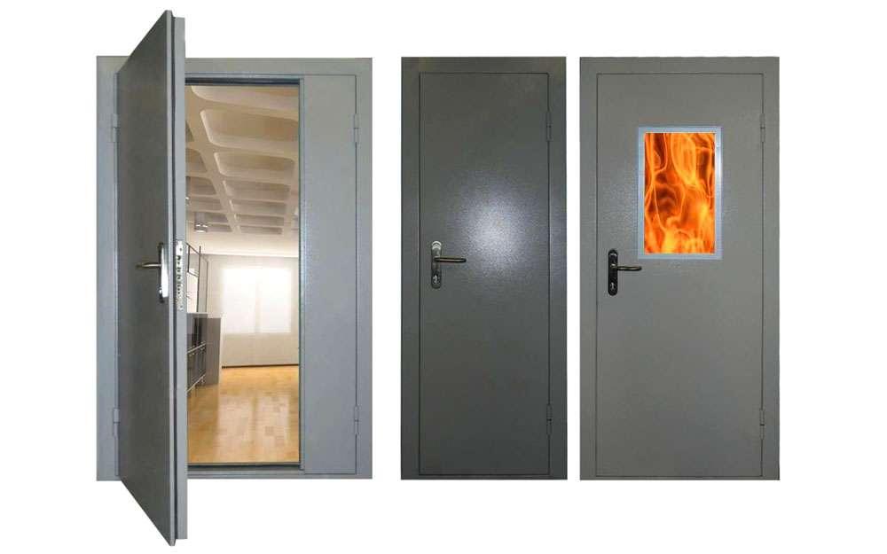 Из чего состоят противопожарные двери