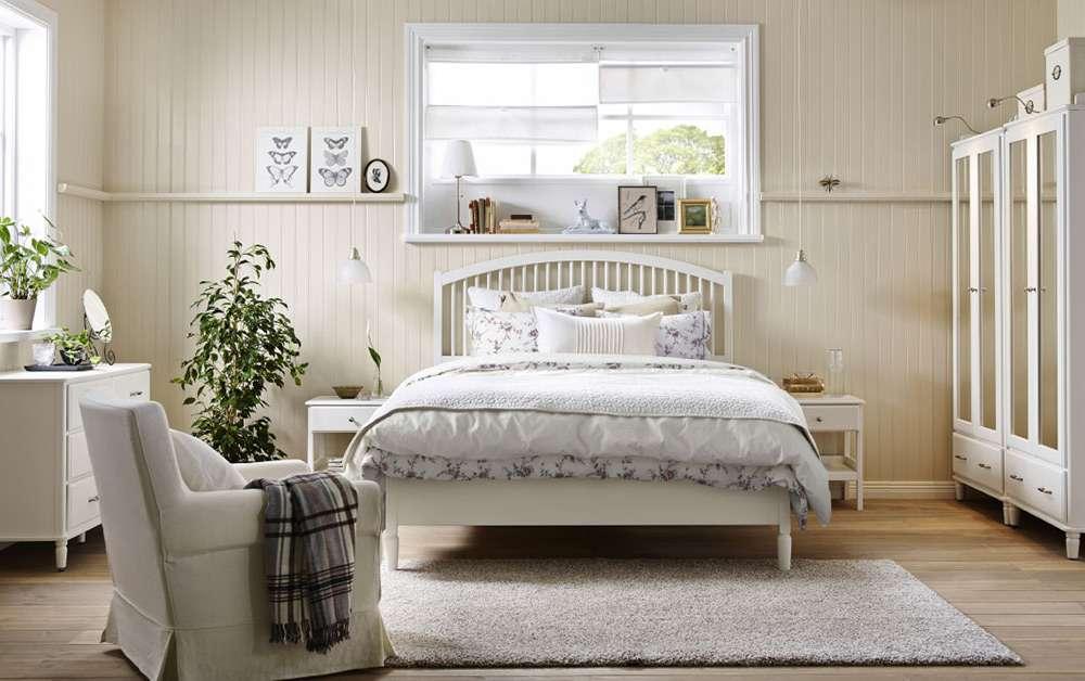 Современный стиль кантри в оформлении интерьера спальни