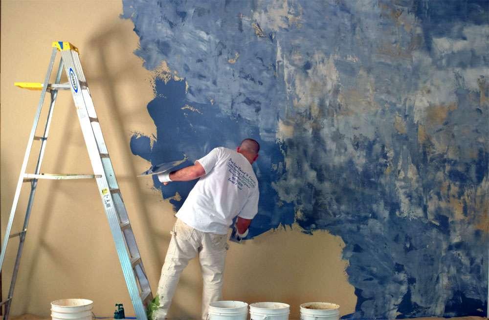 Как наносить венецианскую штукатурку на стену