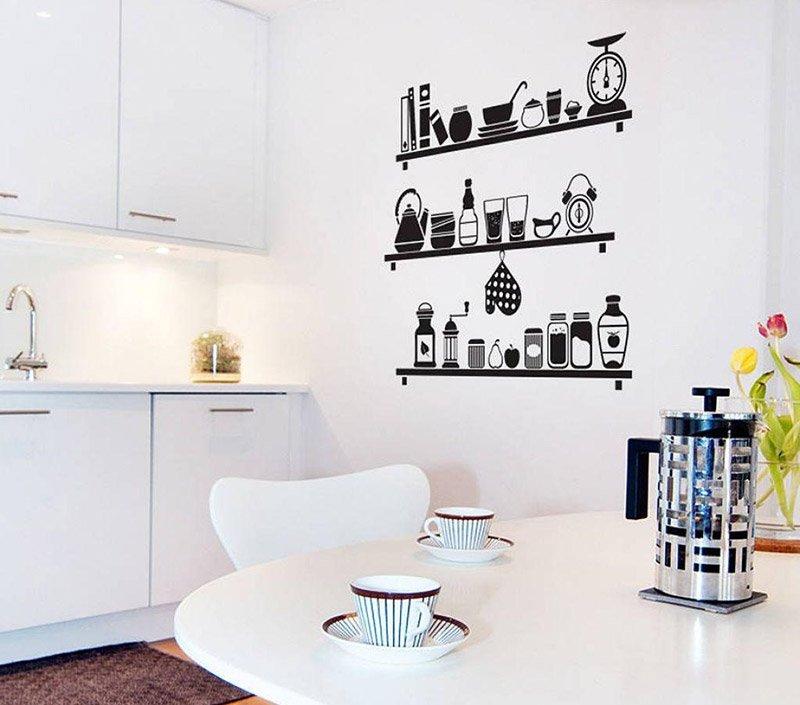 декор стен на кухне фото 10
