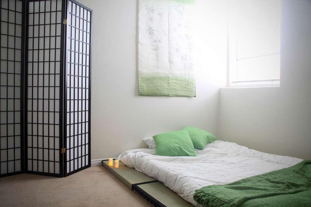Интересная вариант интерьера спальни в восточном стиле