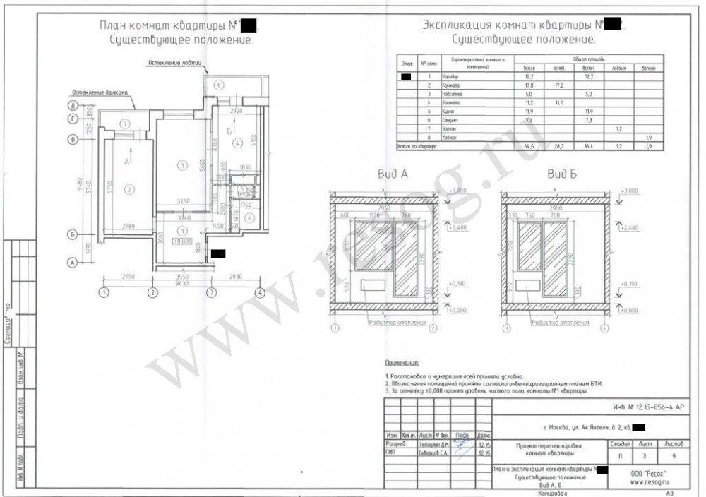 Согласование перепланировки квартиры в Москве до ремонта