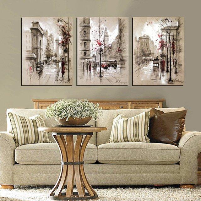 Три картины (триптих) для уютной гостинойHEYI