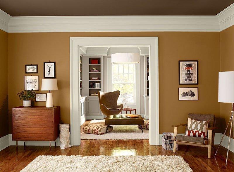 Коричневый цвет в интерьере фото 1