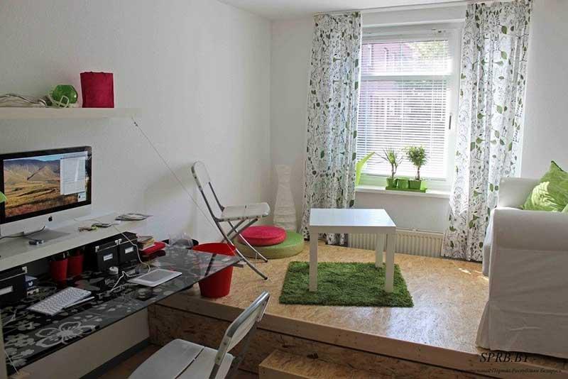 Зонирование комнаты на спальню и гостиную фото 10
