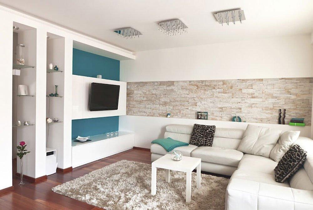 Современная гостиная в стиле минимализм фото 3