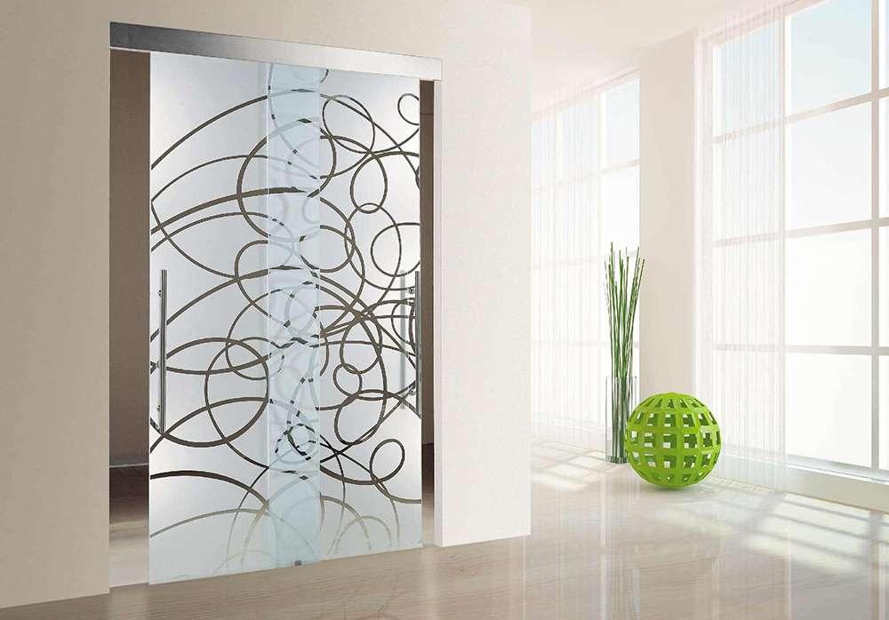 Скляні міжкімнатні двері в інтер'єрі