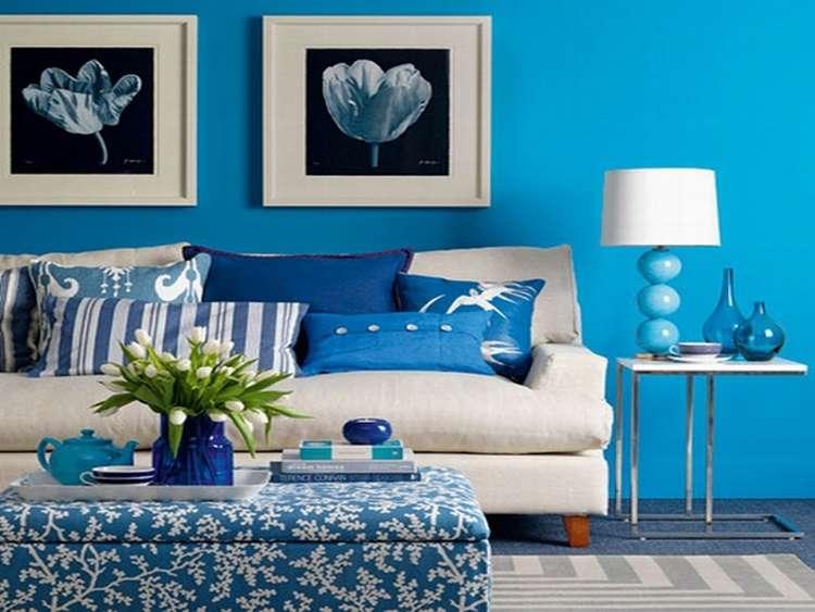 синий цвет в интерьере фото 1